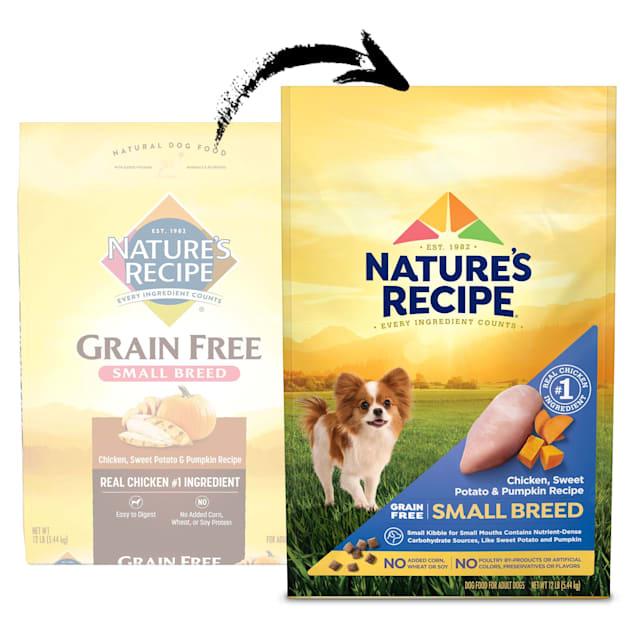 Nature's Recipe Grain-Free Chicken, Sweet Potato & Pumpkin Small Breed Dog Food, 12 lbs. - Carousel image #1