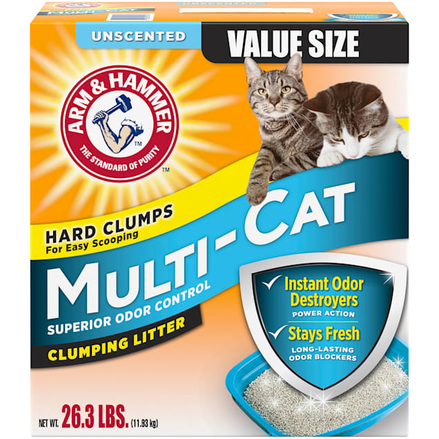 Arm & Hammer Unscented Multi-Cat Clumping Litter, 26.3 lbs. - Carousel image #1