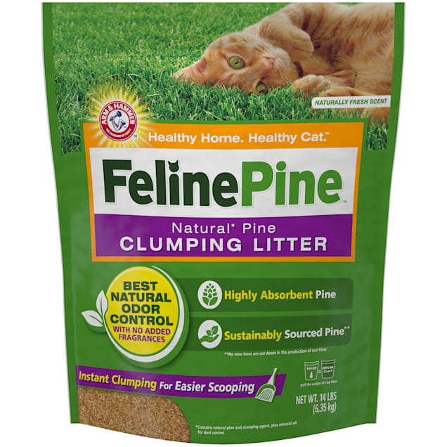 Feline Pine Natural Clumping Cat Litter, 14 lbs. - Carousel image #1
