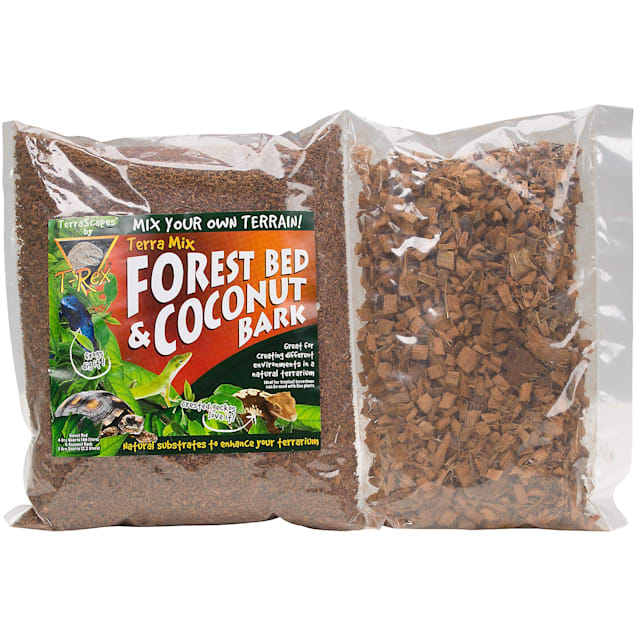 T-Rex Terra Mix Forest Bed & Coconut Bark Reptile Substrate, 6 Dry Quarts - Carousel image #1