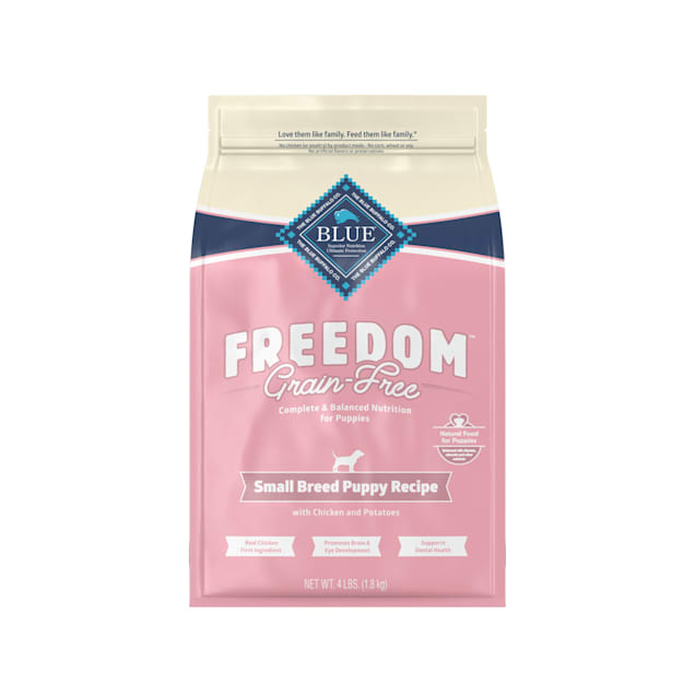 Blue Buffalo Blue Freedom Grain-Free Small Breed Puppy Chicken Recipe Dry Dog Food, 4 lbs. - Carousel image #1