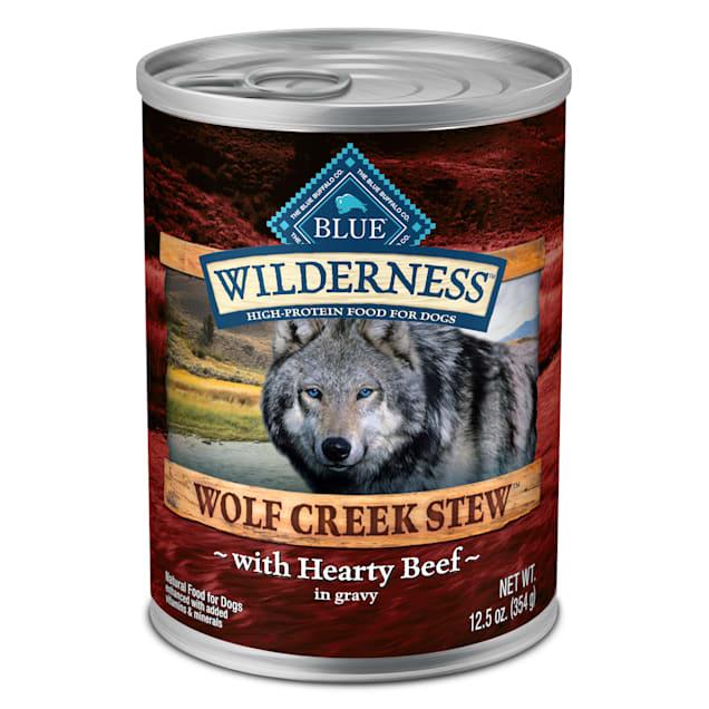 Blue Buffalo Blue Wilderness Wolf Creek Stew Hearty Beef Stew Wet Dog Food, 12.5 oz., Case of 12 - Carousel image #1