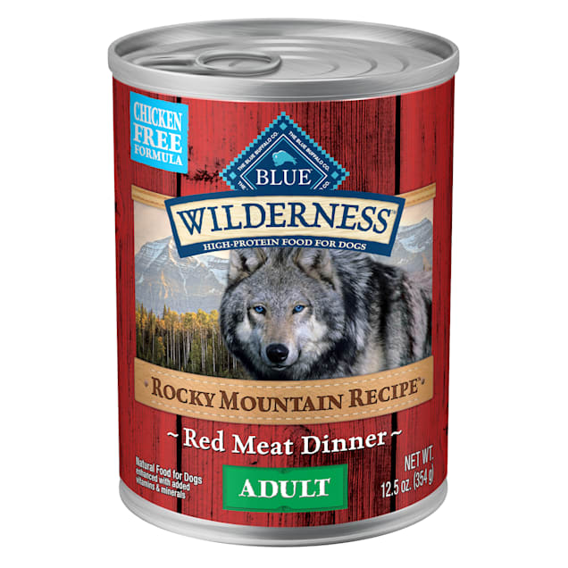 Blue Buffalo Blue Wilderness Rocky Mountain Recipe Adult Red Meat Dinner Wet Dog Food, 12.5 oz., Case of 12 - Carousel image #1