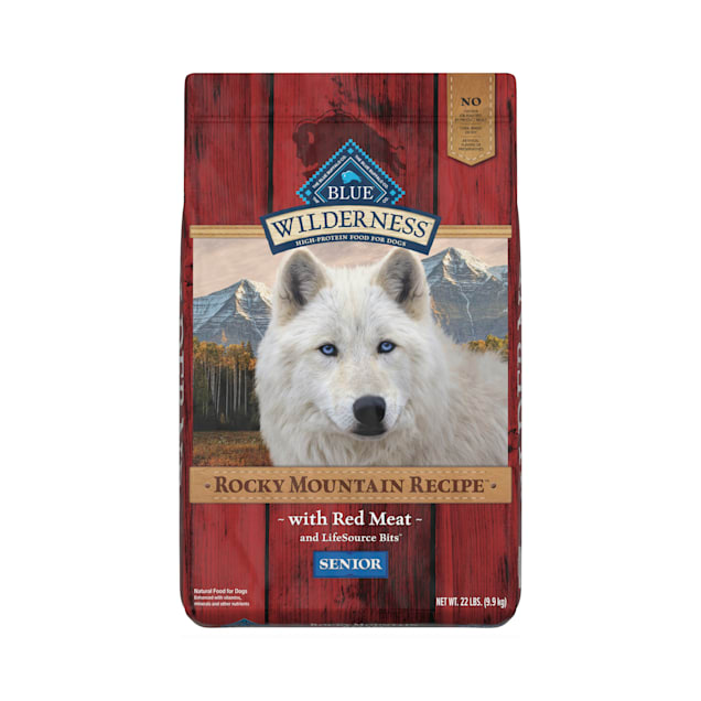 Blue Buffalo Blue Wilderness Rocky Mountain Recipe Senior Red Meat Dinner Dry Dog Food, 22 lbs. - Carousel image #1