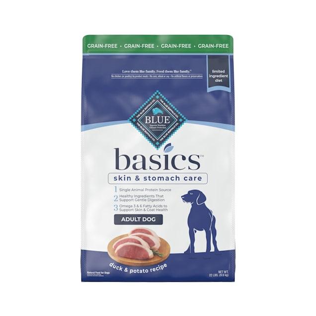 Blue Buffalo Blue Basics Adult Grain-Free Duck and Potato Recipe Dry Dog Food, 22 lbs. - Carousel image #1
