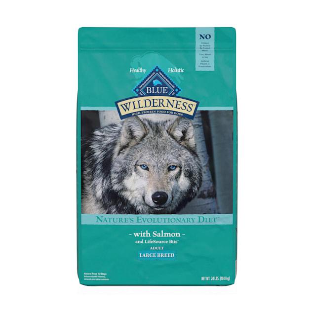 Blue Buffalo Blue Wilderness Large Breed Adult Salmon Recipe Dry Dog Food, 24 lbs. - Carousel image #1