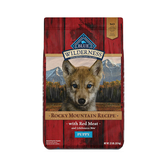 Blue Buffalo Blue Wilderness Rocky Mountain Recipe Puppy Red Meat Dinner Dry Dog Food, 22 lbs. - Carousel image #1