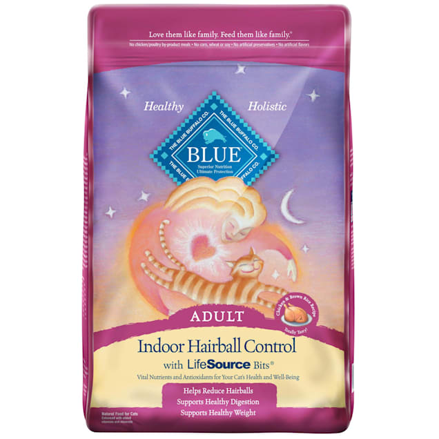 Blue Buffalo Indoor Hairball Control Natural Adult Chicken & Brown Rice Dry Cat Food, 15 lbs. - Carousel image #1