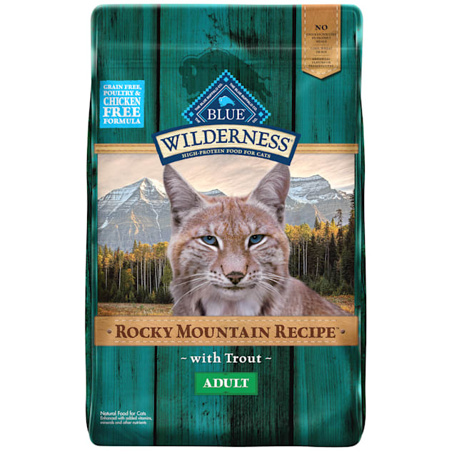 Blue Buffalo Blue Wilderness Rocky Mountain Recipe Adult Trout Dry Cat Food, 10 lbs. - Carousel image #1