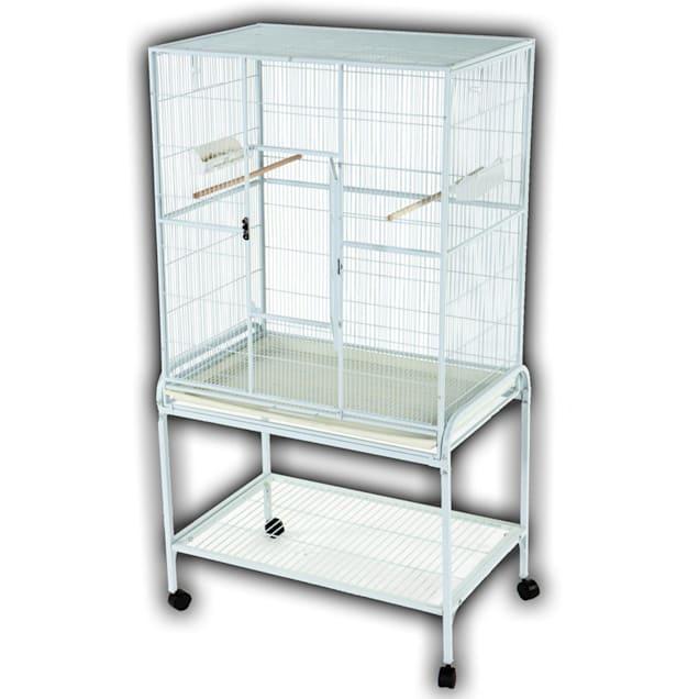 A&E Cage Company Flight Bird Cage in White - Carousel image #1