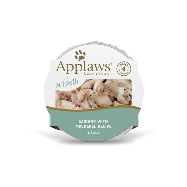Applaws Tasty Sardine with Mackerel Peel & Serve Pot Cat Food, 2.12 oz., Case of 18 - Carousel image #1