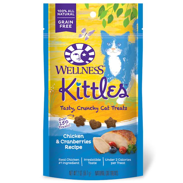 Wellness Kittles Crunchy Natural Grain Free Chicken & Cranberry Cat Treats, 2 oz - Carousel image #1