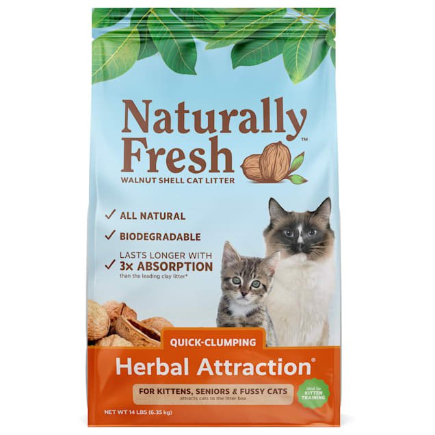 Naturally Fresh Herbal Attraction Quick-Clumping Natural Cat Litter, 14 lbs. - Carousel image #1