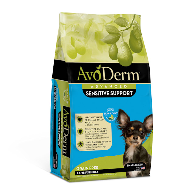 AvoDerm Advanced Sensitive Support Grain Free Small Breed Lamb Formula Dry Dog Food, 4 lbs. - Carousel image #1
