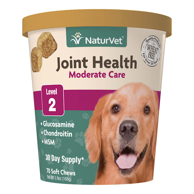 NaturVet Joint Health Moderate Care Dog Soft Chews, 70 chews - Carousel image #1