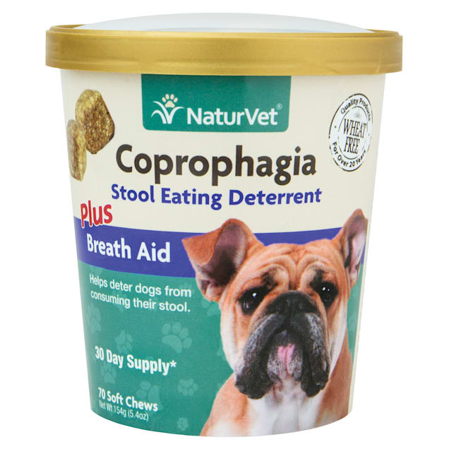 NaturVet Coprophagia Stool Eating Deterrent Dog Chews, 70 chews - Carousel image #1