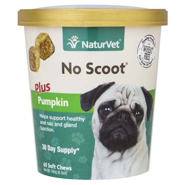 NaturVet No Scoot Dog Soft Chews, Pack of 60 chews - Carousel image #1