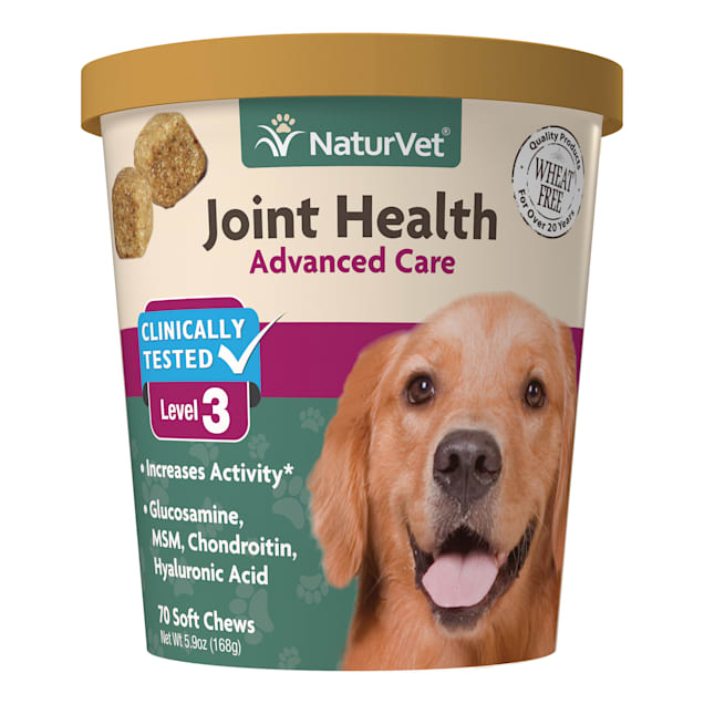 NaturVet Joint Health Advanced Care Dog Soft Chews, Pack of 70 chews - Carousel image #1