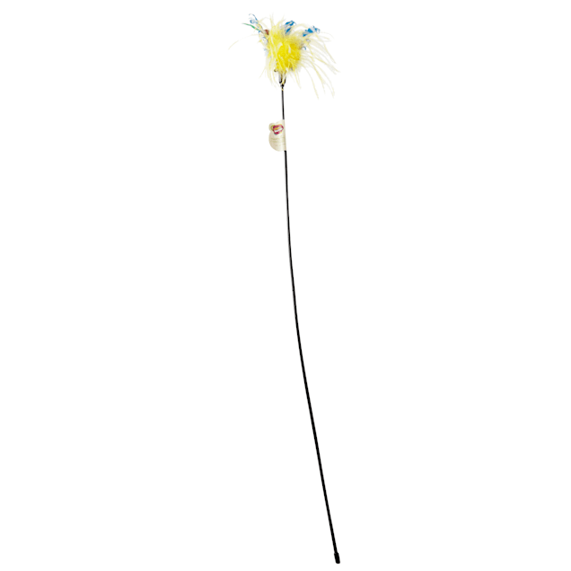 "Leaps & Bounds Wildflower Feather Cat Teaser, 36"" Length - Carousel image #1"