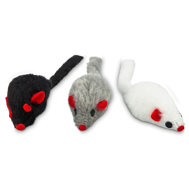 Leaps & Bounds Fuzzy Mice Cat Toys with Catnip, Small, Pack of 3 - Carousel image #1