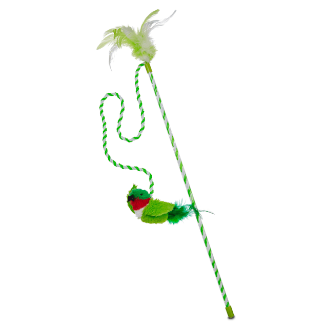 """Our Pet's Play-N-Squeak Bird Wand Cat Toy, 43"""" L X 2"""" W - Carousel image #1"""