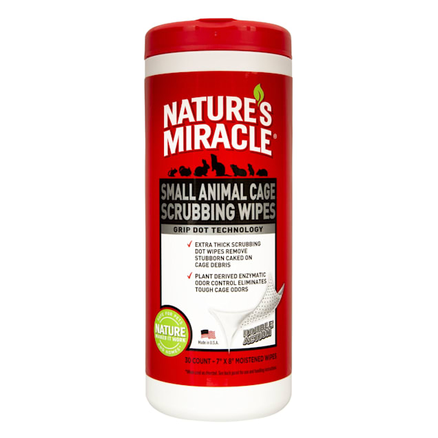 Nature's Miracle Small Animal Cage Scrubbing Wipes, 30 Count - Carousel image #1