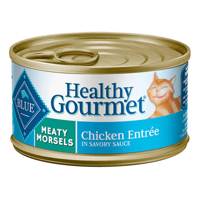 Blue Buffalo Blue Healthy Gourmet Meaty Morsels Chicken Entree Wet Cat Food, 3 oz., Case of 24 - Carousel image #1