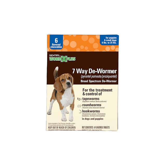 SentryHC WormX Plus Flavored De-Wormer Chewables for Small Dogs & Puppies - Carousel image #1