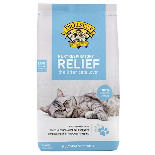 Dr. Elsey's Precious Cat Respiratory Relief Silica Cat Litter, 7.5 lbs. - Carousel image #1