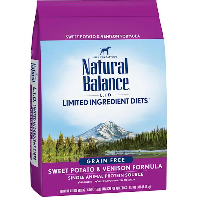 Natural Balance L.I.D. Limited Ingredient Diets Sweet Potato & Venison Formula Dry Dog Food, 13 lbs. - Carousel image #1
