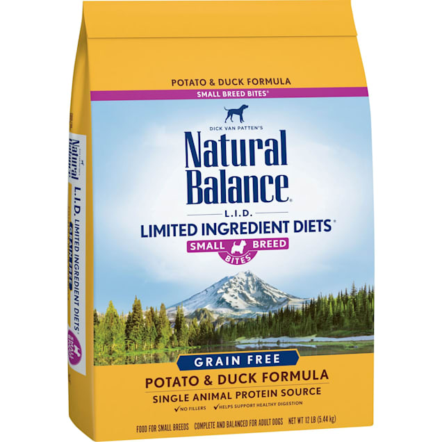 Natural Balance L.I.D. Limited Ingredient Diets Grain-Free Small Breeds Potato & Duck Formula Dry Dog Food, 12 lbs. - Carousel image #1