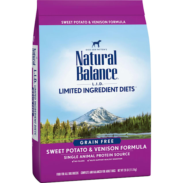 Natural Balance L.I.D. Limited Ingredient Diets Sweet Potato & Venison Formula Dry Dog Food, 26 lbs. - Carousel image #1