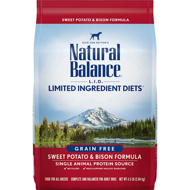 Natural Balance L.I.D. Limited Ingredient Diets Sweet Potato & Bison Dry Dog Food, 26 lbs. - Carousel image #1