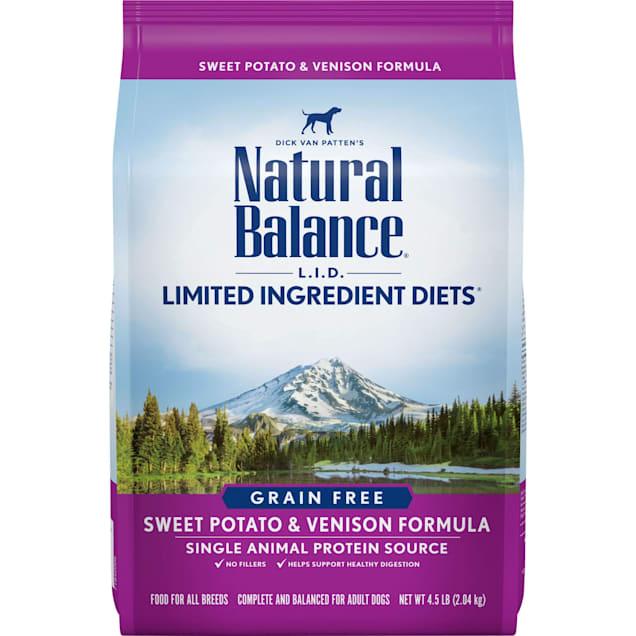 Natural Balance L.I.D. Limited Ingredient Diets Sweet Potato & Venison Formula Dry Dog Food, 4.5 lbs. - Carousel image #1