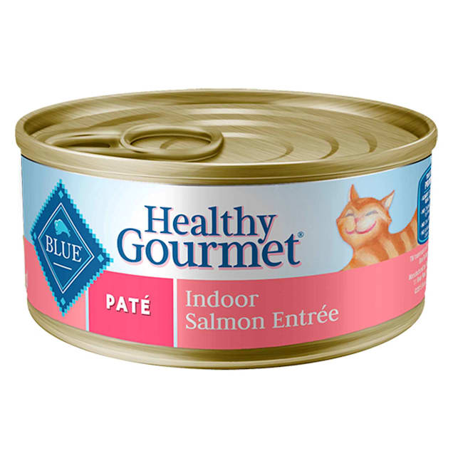 Blue Buffalo Blue Healthy Gourmet Pate Indoor Salmon Adult Canned Cat Food, 3 oz., Case of 24 - Carousel image #1