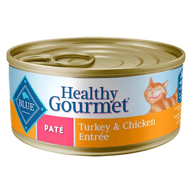 Blue Buffalo Blue Healthy Gourmet Adult Turkey & Chicken Entree Wet Cat Food, 3 oz., Case of 24 - Carousel image #1