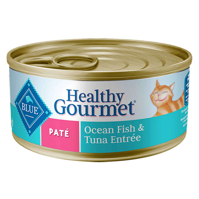 Blue Buffalo Blue Healthy Gourmet Pate Ocean Fish & Tuna Adult Canned Cat Food, 3 oz., Case of 24 - Carousel image #1