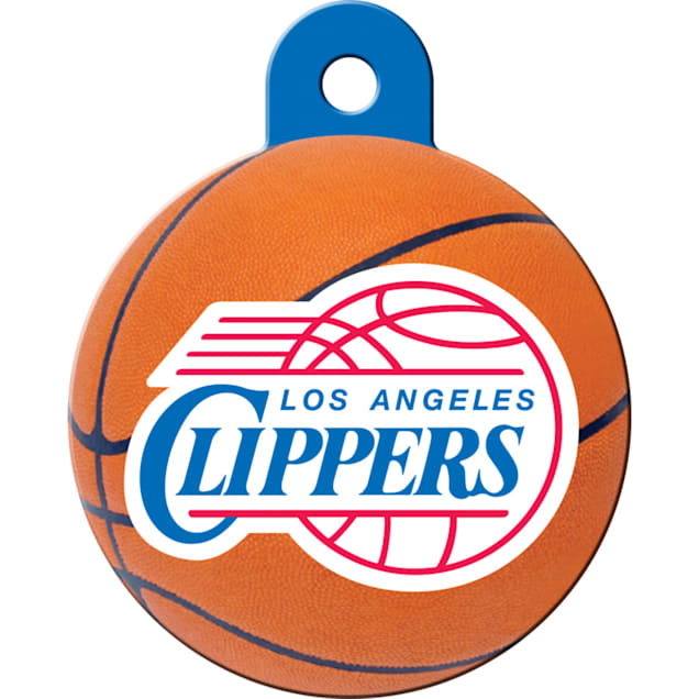 Quick-Tag LA Clippers NBA Circle Personalized Engraved Pet ID Tag - Carousel image #1