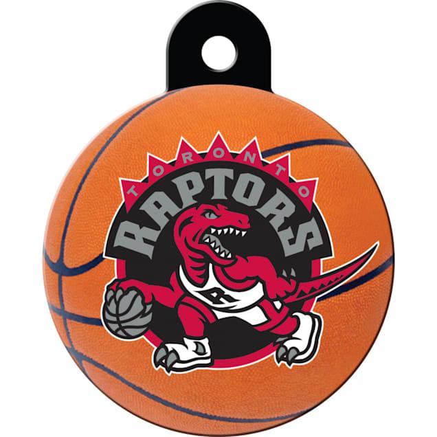 Quick-Tag Toronto Raptors NBA Circle Personalized Engraved Pet ID Tag - Carousel image #1