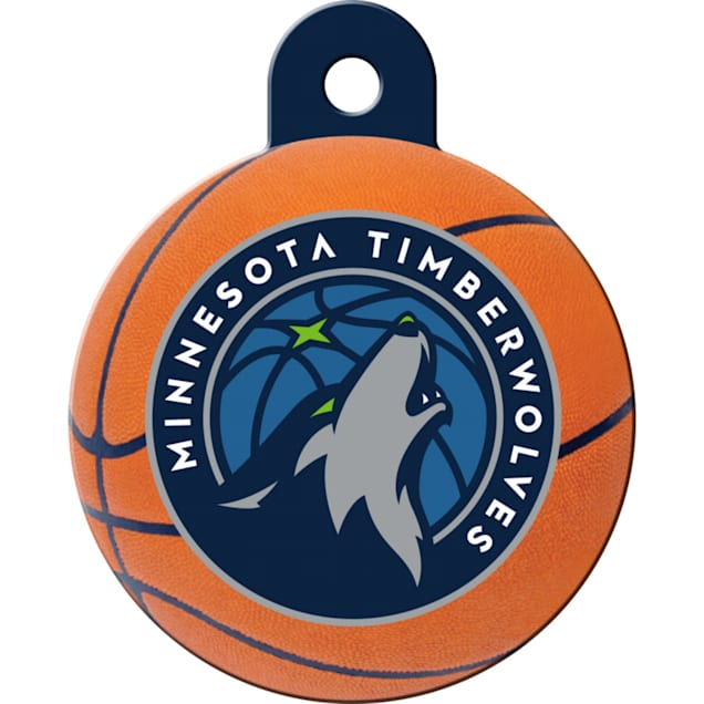 Quick-Tag Minnesota Timberwolves NBA Circle Personalized Engraved Pet ID Tag - Carousel image #1