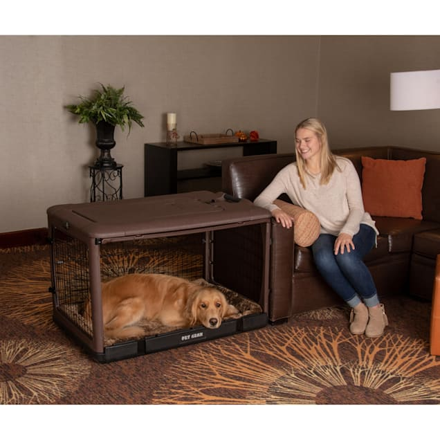 "Pet Gear The Other Door Chocolate Steel Dog Crate, 42"" L X 28"" W X 28"" H - Carousel image #1"