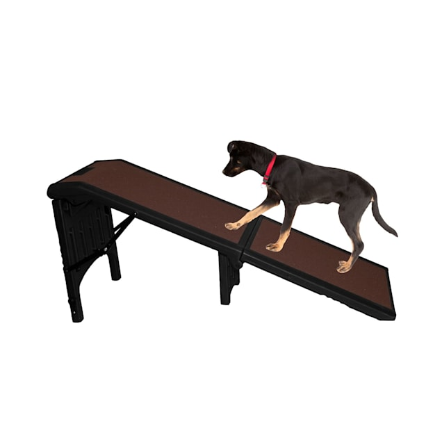 """Pet Gear Extra Wide Free Standing Chocolate Pet Ramp, 55""""L x 19.25""""W x 23""""H - Carousel image #1"""