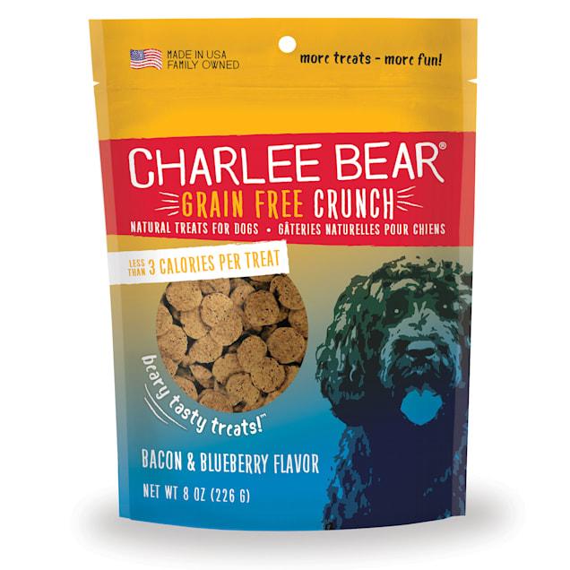 Charlee Bear Grain Free Bacon & Blueberry Bear Crunch Dog Treats, 8 oz. - Carousel image #1