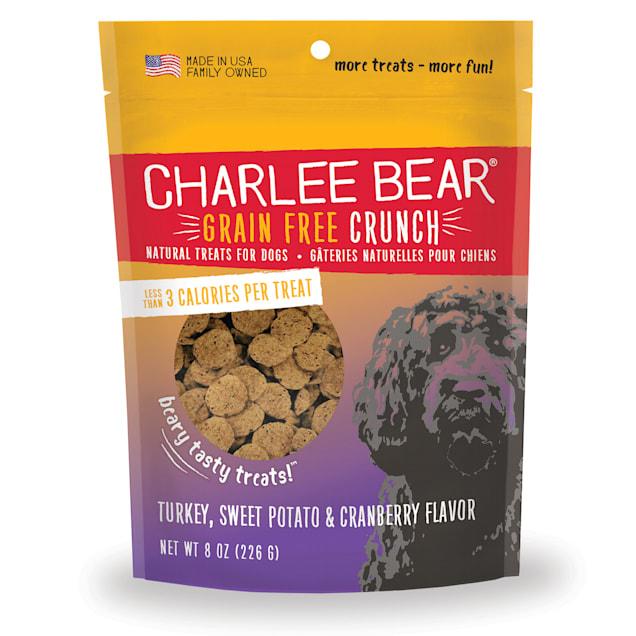 Charlee Bear Grain Free Turkey, Sweet Potato & Cranberry Bear Crunch Dog Treats, 8 oz. - Carousel image #1