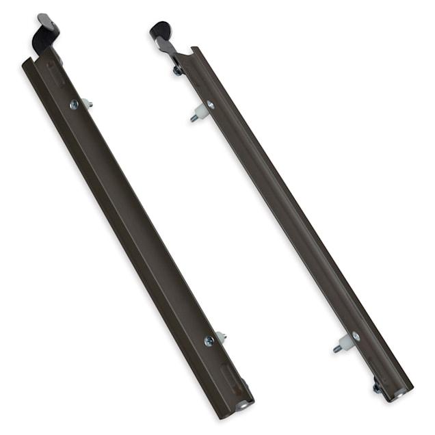 PlexiDor Sliding Tracks with Flip Lock for Pet Doors in Bronze, Large - Carousel image #1
