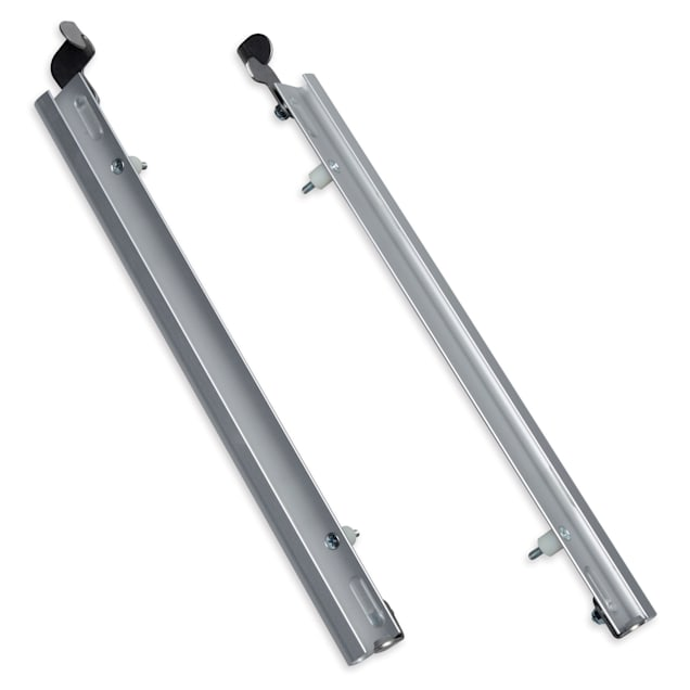 PlexiDor Sliding Tracks with Flip Lock for Pet Doors in Silver, X-Large - Carousel image #1