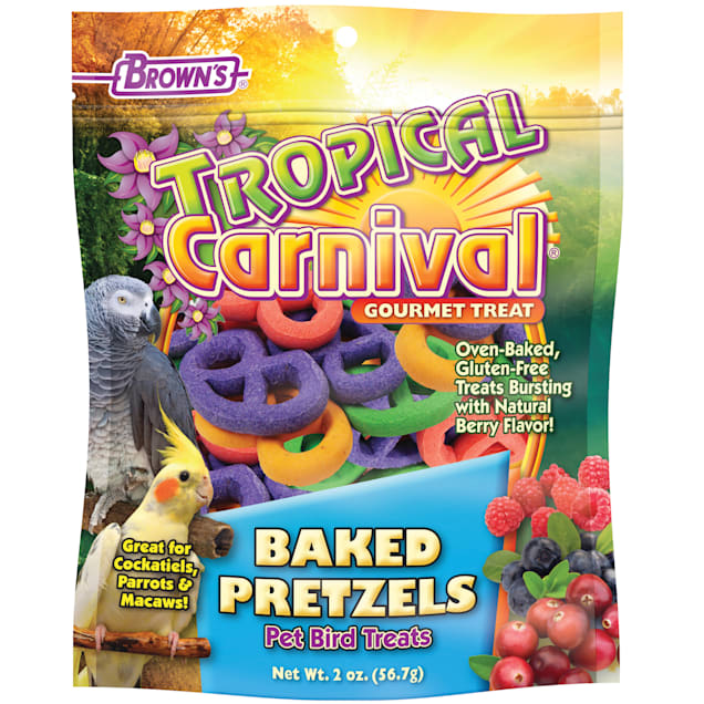 Brown's Tropical Carnival Baked Pretzels Bird Treats, 2 oz. - Carousel image #1