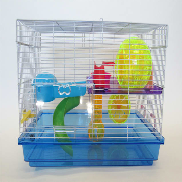 """YML Blue Large Hamster Cage, 18"""" L X 12"""" W X 12"""" H - Carousel image #1"""