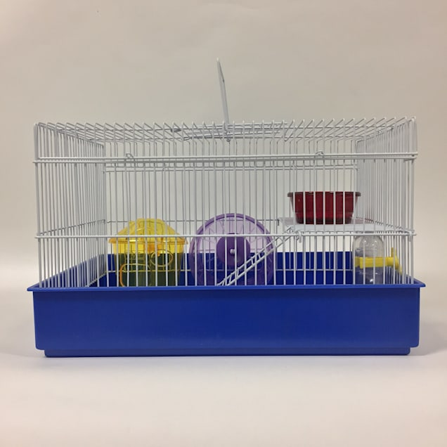 """YML 2 Level Blue Hamster Cage, 15"""" L X 11"""" W X 9.5"""" H - Carousel image #1"""