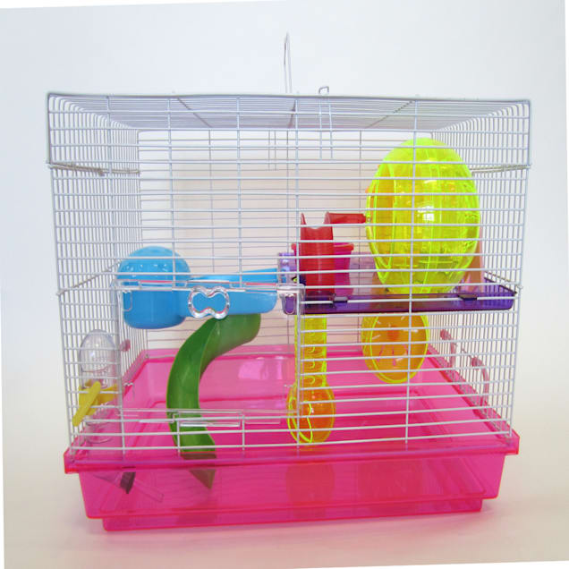 """YML Pink Large Hamster Cage, 18"""" L X 12"""" W X 12"""" H - Carousel image #1"""